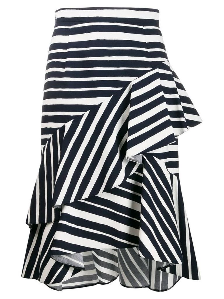 Paule Ka striped asymmetric skirt - Blue