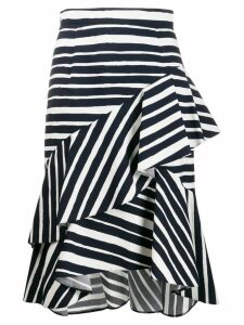Paule Ka striped asymmetric skirt - Blue