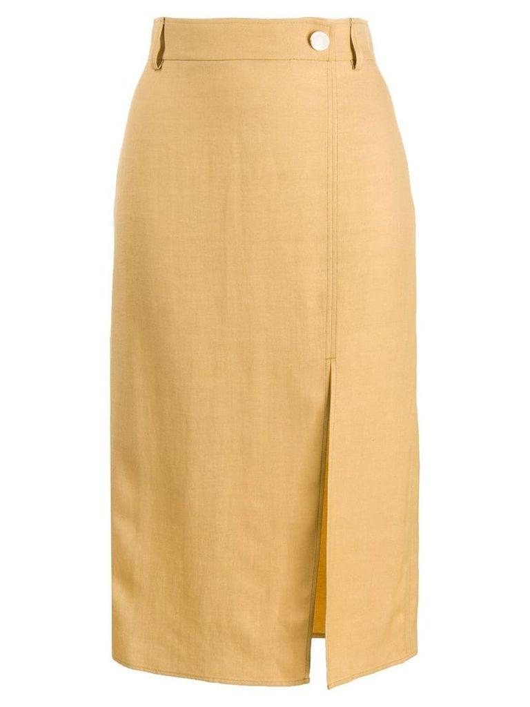 Áeron Reyna pencil midi skirt - Yellow