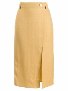 Áeron Reyna pencil midi skirt - Yellow