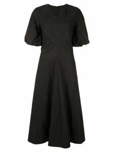 Le Ciel Bleu balloon sleeves jersey dress - Black