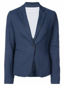 Fabiana Filippi contrast piping blazer - Blue