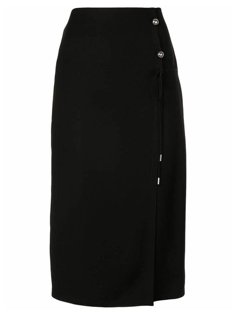 Yigal Azrouel tissue crepe wrap skirt - Black