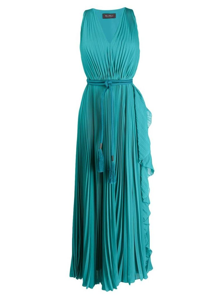 Max Mara empire line maxi dress - Green