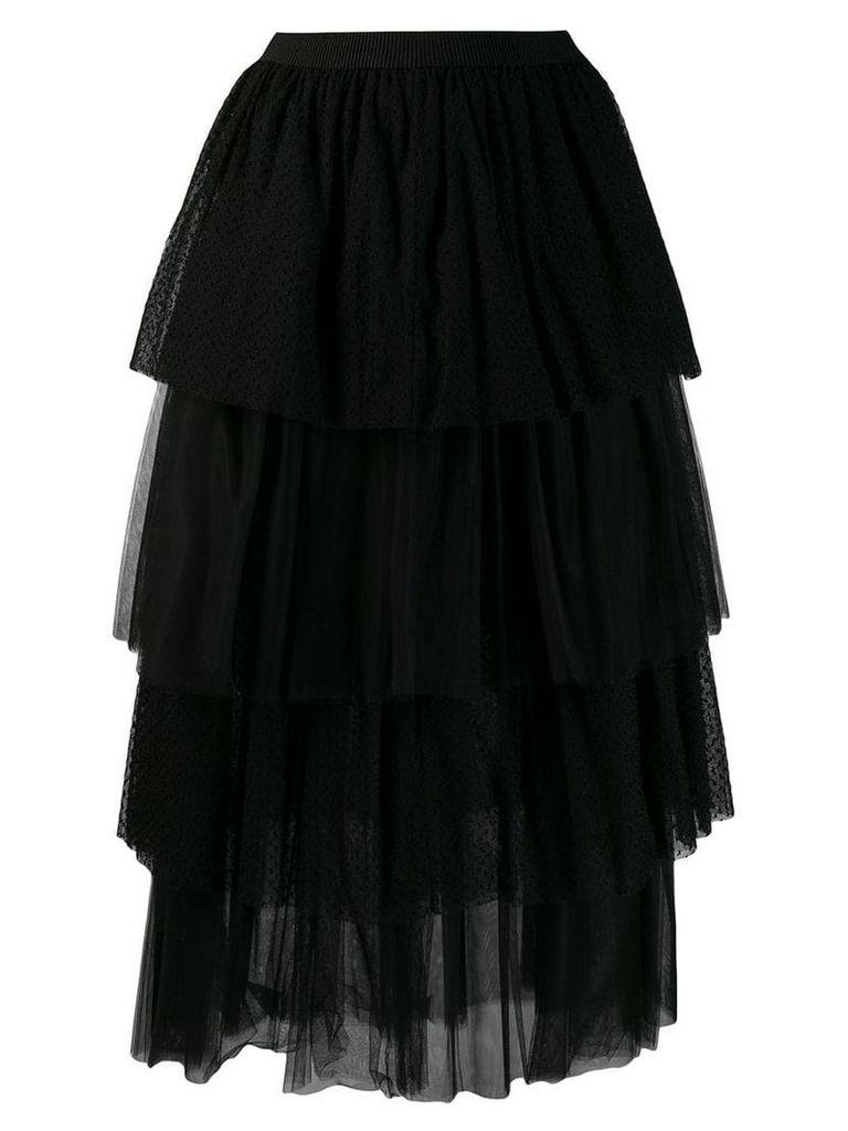 Fabiana Filippi A-line tulle skirt - Black
