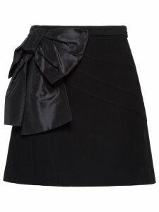 Miu Miu Cady skirt with bow - Black