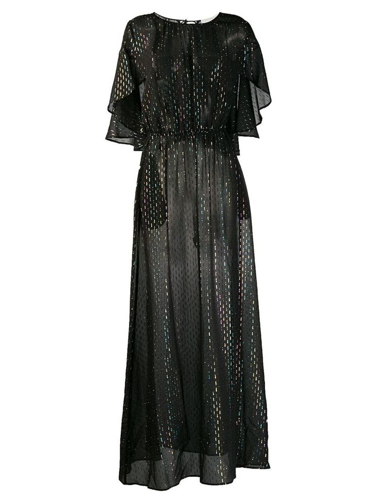 L'Autre Chose metallic evening dress - Black