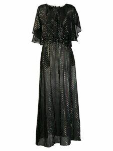 L'Autre Chose metallic evening dress - Black