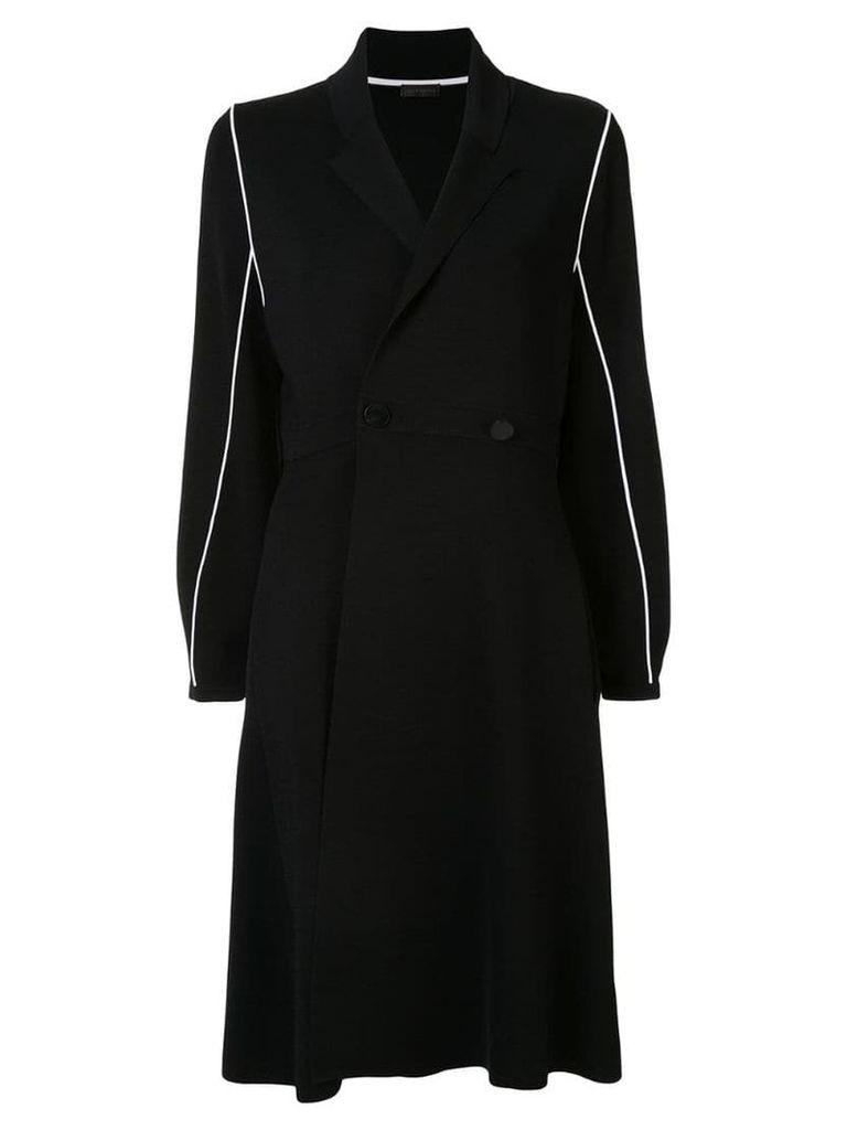 Anteprima contrast piping coat - Black