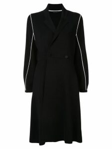 Anteprima contrast piping coat - Black