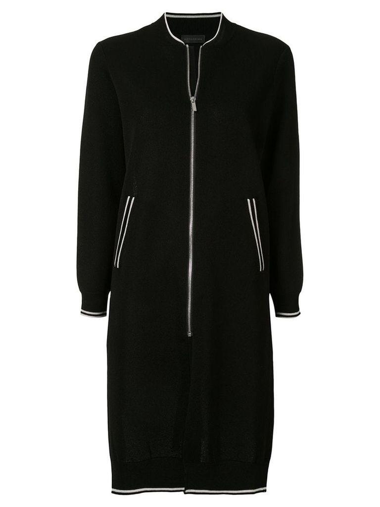 Anteprima sporty long cardi-coat - Black