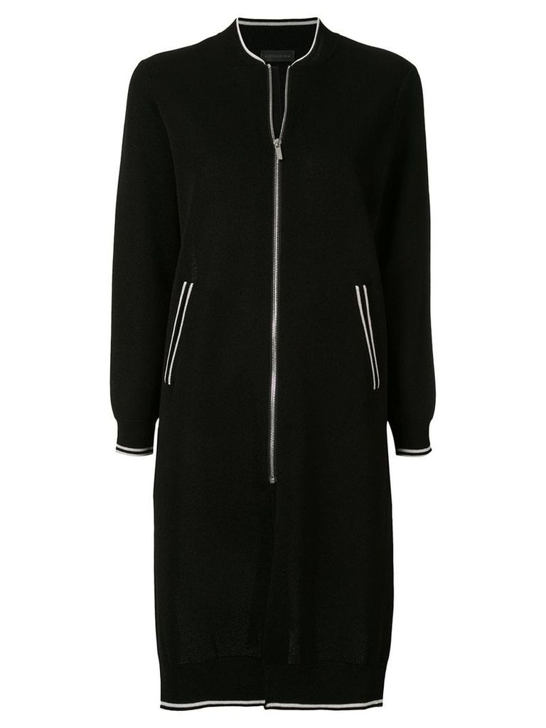 Anteprima sporty long cardi-coat - Black