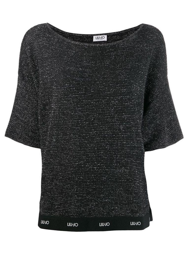 Liu Jo knitted top logo band - Black