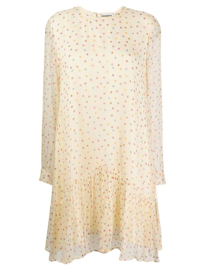 Essentiel Antwerp polka dot shift dress - Neutrals