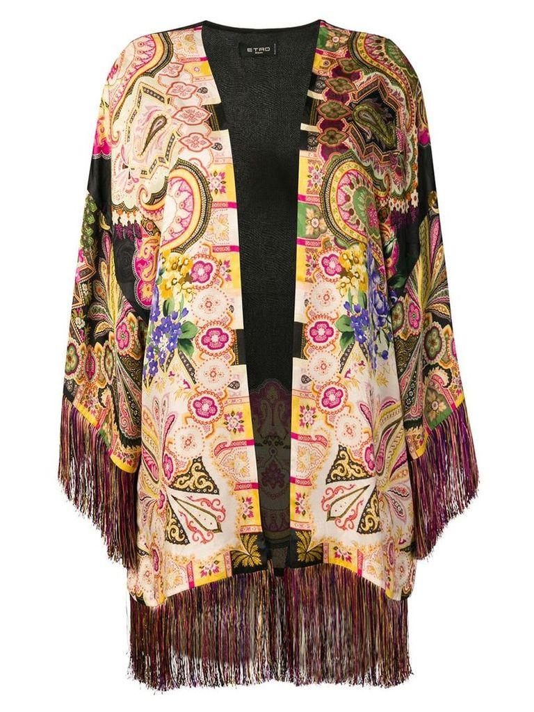 Etro fringed kimono - Neutrals