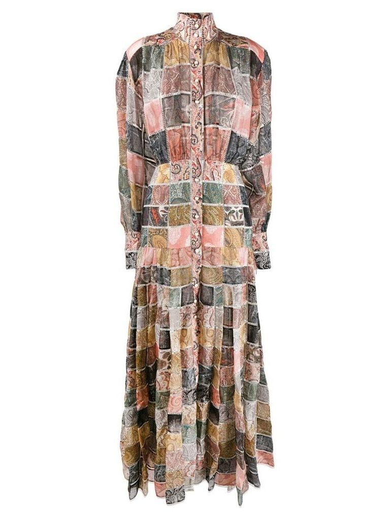Zimmermann paisley check loose-fitting dress - Pink