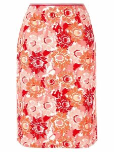 Anteprima sunflower print straight skirt - Multicolour