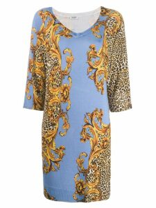 Liu Jo baroque print dress - Blue