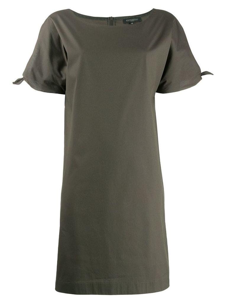 Antonelli tie sleeve dress - Green