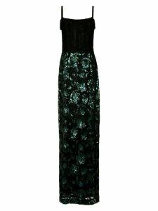 À La Garçonne sequin embroidered gown - Verde