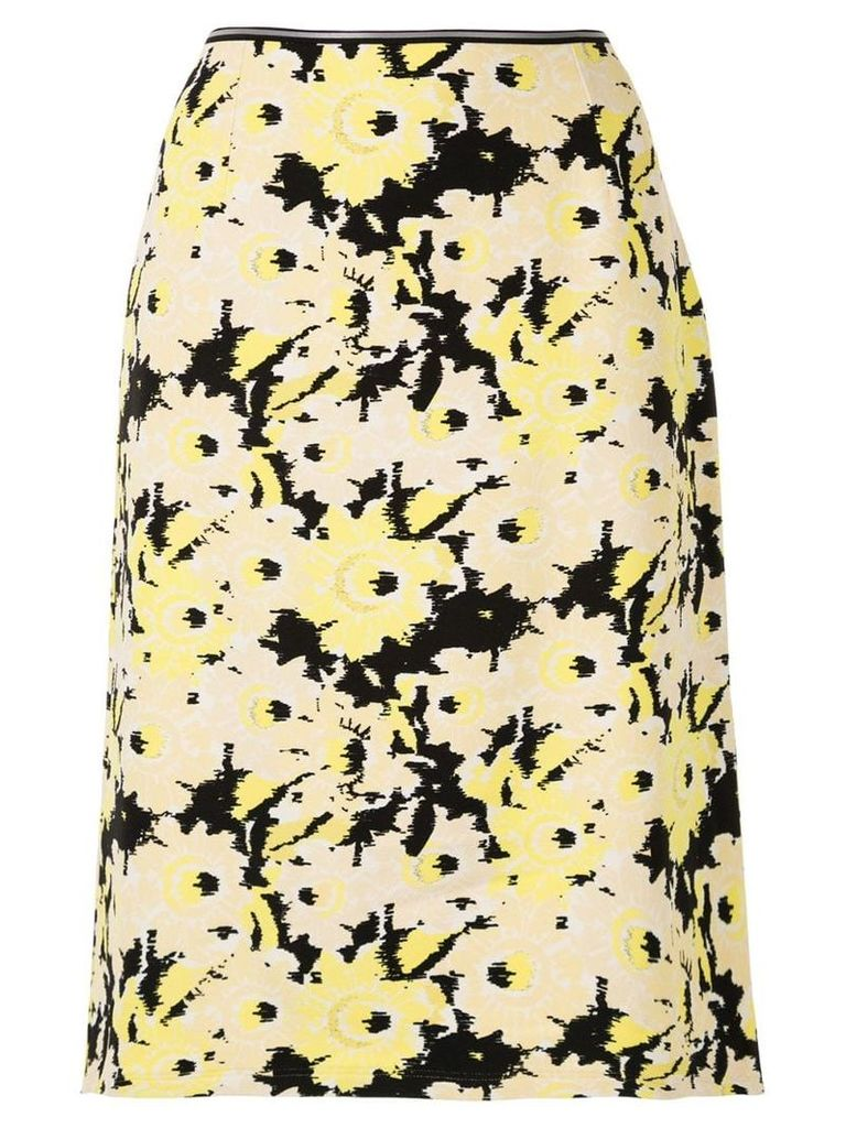 Anteprima sunflower print straight skirt - Multicolour