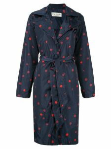 Être Cécile Polka Dot trench coat - Blue