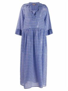 Altea geometric print dress - Blue