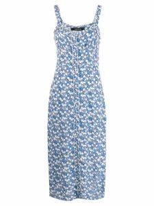 Andamane floral print midi dress - Blue
