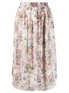 Iro peony straight skirt - Pink
