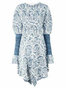 Chloé handkerchief hem dress - Blue