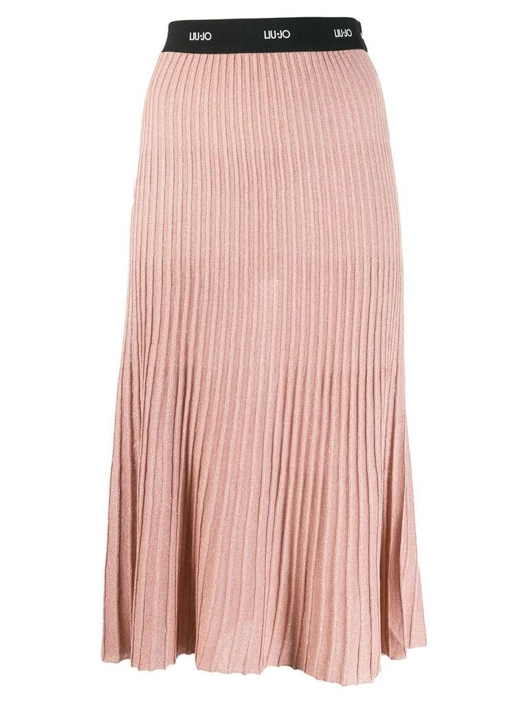 Liu Jo ribbed midi skirt - Pink