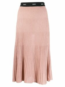 Liu Jo ribbed midi skirt - Pink