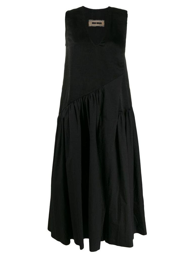 Uma Wang flared Alain dress - Black