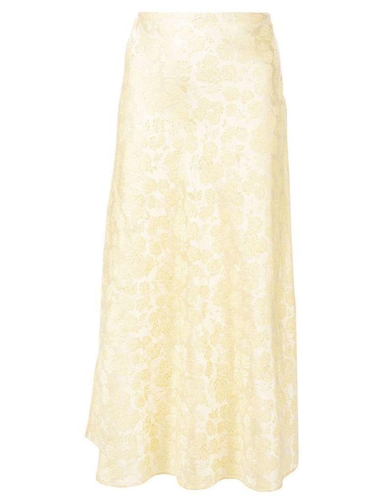 Markarian embroidered daisy skirt - Yellow