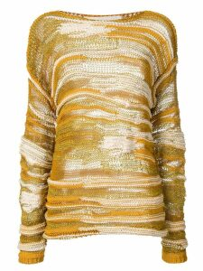 Isabel Benenato open knit jumper - Yellow