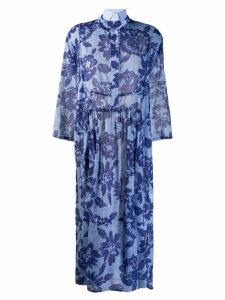 Jejia Kate floral shirt dress - Blue