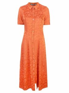 Alexa Chung floral embroidered shirt dress - Orange