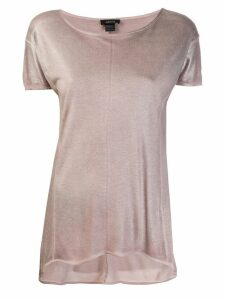 Avant Toi metallic sheen top - Pink