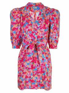 Lhd floral print belted shirt dress - Pink