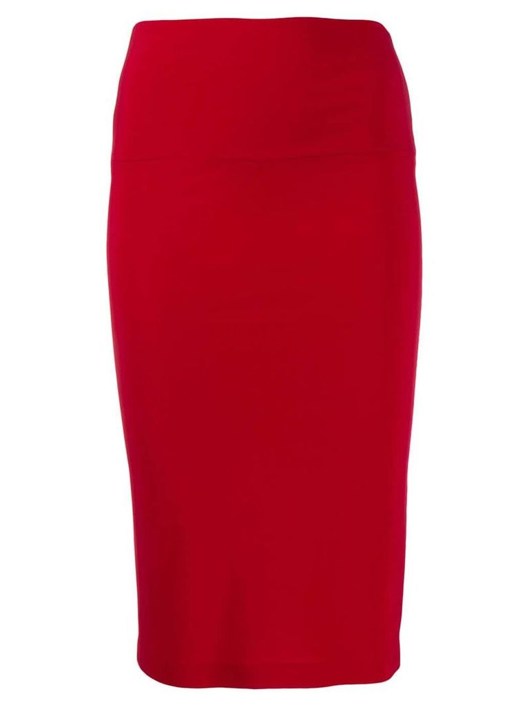 Norma Kamali fitted skirt - Red