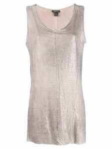 Avant Toi metallic effect vest top - Grey