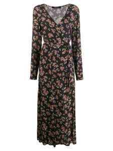 Andamane floral print wrap dress - Black