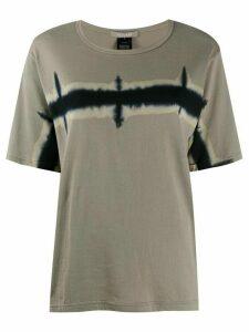 Suzusan horizon print T-shirt - Grey