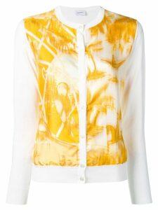 Salvatore Ferragamo printed cardigan - White