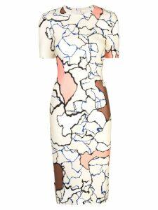 Yigal Azrouel Terrazzo colour-block dress - Multicolour