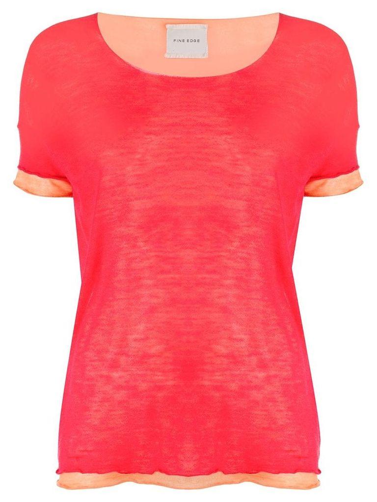 Fine Edge layered T-shirt