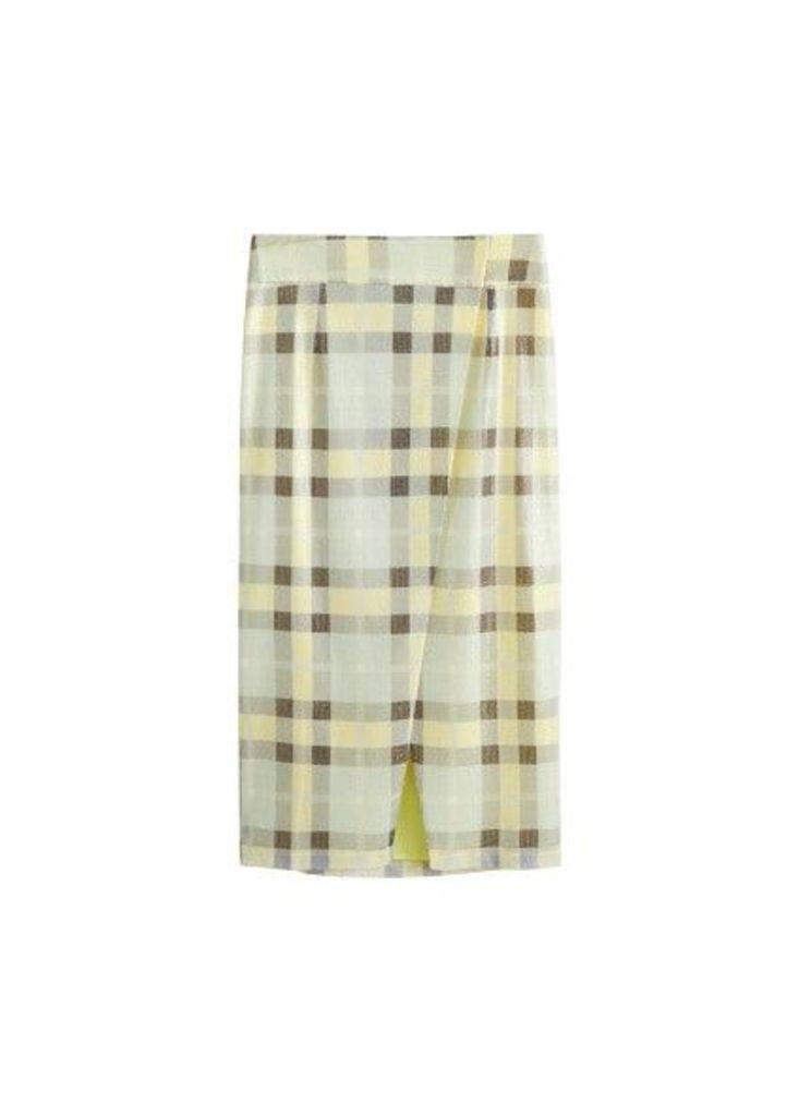 Sequin wrap skirt