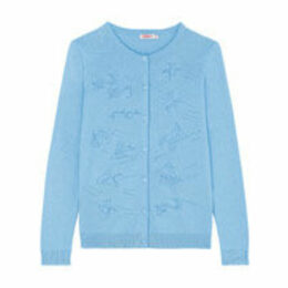 Ocean Fish Embroidered Cardigan