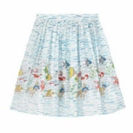Ocean Fish Voile Skirt