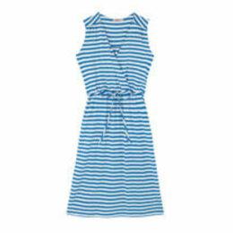 Stripe Jersey Pointelle Wrap Dress